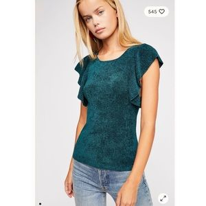 {free people one} nikita ruffle top